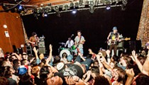 Concert pic of the week: Fidlar fan crowdsurfing in tortured elation