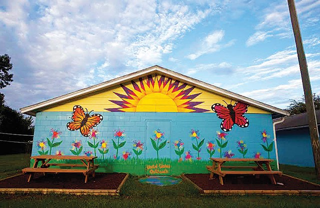 A mural decorates a wall in Bithlo's Transformation Village - PHOTO BY WILLIE J. ALLEN JR.