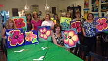 Acrylic Painting Event at Coffee and Canvas