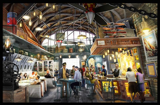 An artist's rendition of Jock Lindsey's Hanger Bar - PHOTO VIA DISNEY PARKS BLOG