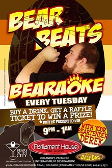 AD BY AVID MARKETING US - Bear Beats Bearaoke at the Bear Den