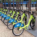 Bike share launches in Orlando today with Buddy on a bike