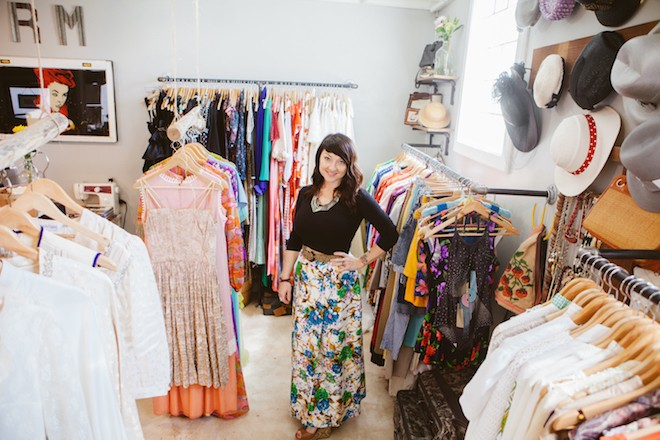 Brandy Tezak, owner of Retromended Vintage - HANNAH GLOGOWER