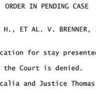 Breaking: Pam Bondi's volley for a stay on marriage has been denied by the Supreme Court