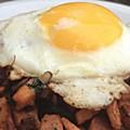 Brokeass Gourmet: sweet potato-andouille hash