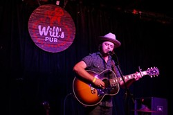 Caleb Caudle at Will's Pub (photo by Michael Lothrop)