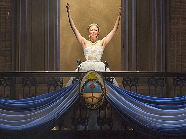 Caroline Bowman as Evita (photo courtesy Broadway Across America)