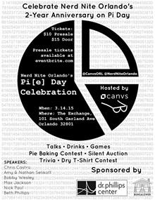 RICARDO WILLIAMS - Celebrate Nerd Nite Orlando's 2-Year Anniversary on Pi Day!