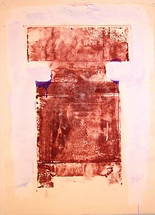 """STELE"" MONOPRINT BY CICERO GREATHOUSE"