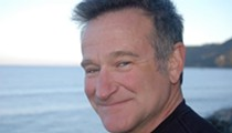 Comedian and actor Robin Williams takes the stage at Bob Carr