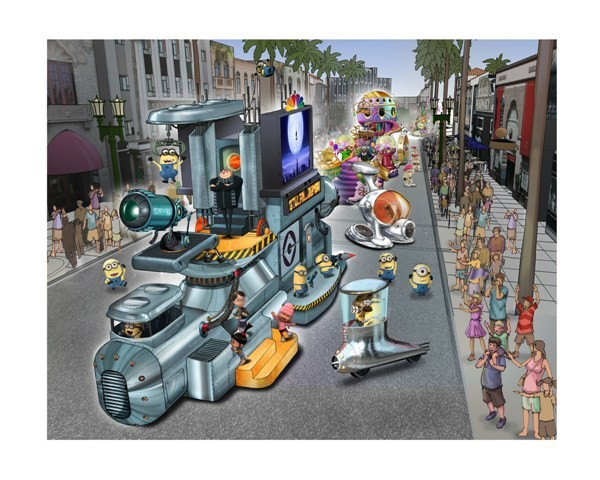 Concept art for Universal's Superstar Parade, debuting in Spring 2012