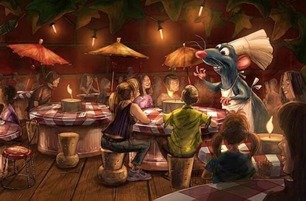 Concept art from new Ratatouille restaurant at Disneyland Paris (image courtesy Disney)