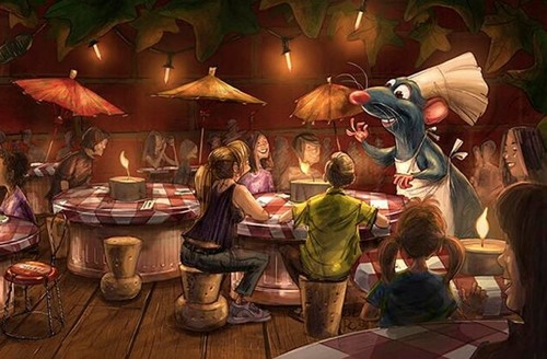 Concept art from new Ratatouille restaurant at Disneyland Paris (image courtesy Disney)