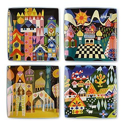 "MARY BLAIR ""IT'S A SMALL WORLD"" PLATES"