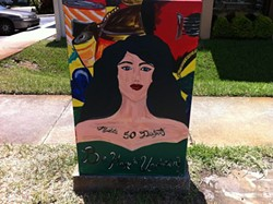 """""""Crossing Paths,"""" painted by students from Edgewater High School, at the intersection of Colonial and Summerlin"""