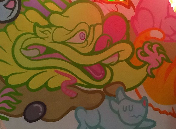 Detail of Boy Kong's massive mural at Quickly Boba. - PHOTO BY JESSICA BRYCE YOUNG