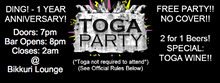 ORLANDO NERD FEST - DING! - 1 Year Anniversary! - DOUBLE SECRET TOGA PARTY!