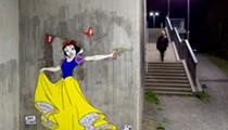 Disney princess street art with a twist