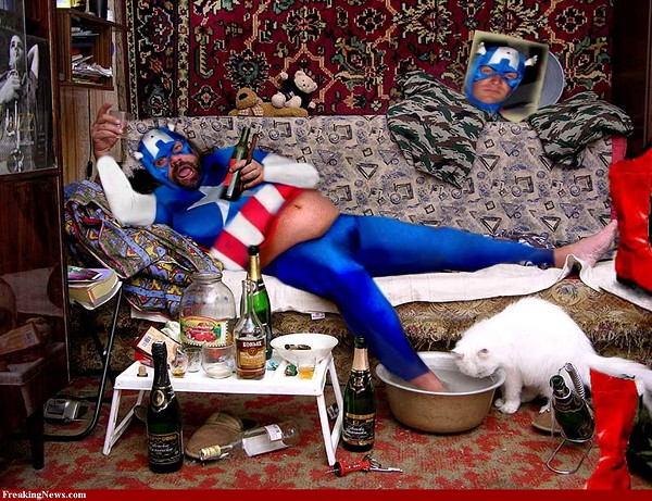 Dramatization of me on Super Bowl Sunday