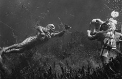 Eat your heart out, Michael Phelps: the Creature zooms through his Black Lagoon in search of babes.