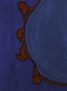"TOBI KAHN - ""EKHEV VI,"" 2014, acrylic on canvas over wood"