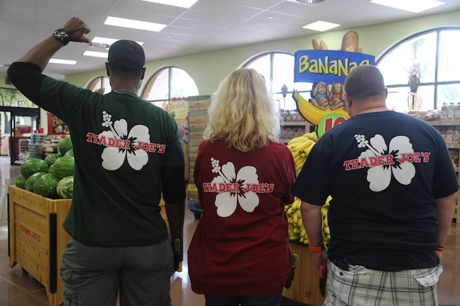 Employees of the Winter Park TJ's on opening day last year. - PHOTO BY LEANNE LEUTERIO