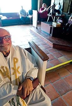 Fr. Anthony Borka, who founded St. Dorothy's Catholic Community, attends Mass every Sunday.