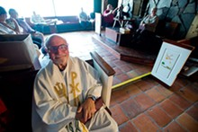 Fr. Anthony Borka, who founded St. Dorothy's Catholic Community, attends Mass every Sunday.