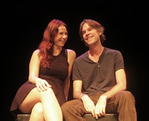 """Concrete Drops presents Martin Dockery and Vanessa Quesnelle in """"Moonlight After Midnight"""" at the 2015 Orlando Fringe."""