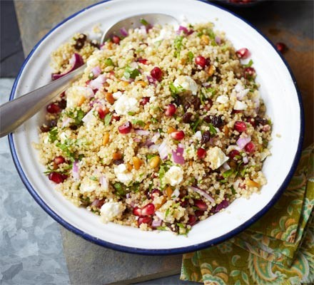 From the BBC's aptly named Good Food site comes this bejeweled grain salad.