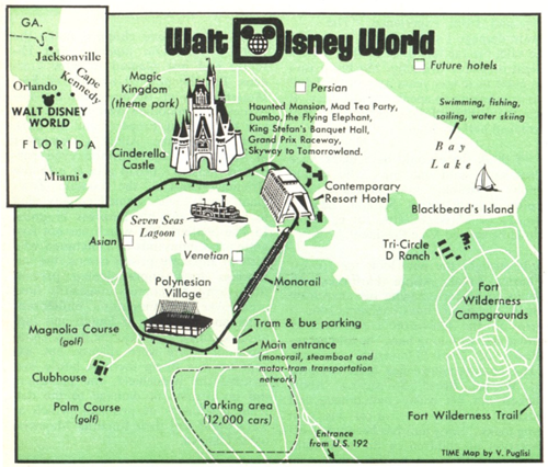 Map 1971 Disney World Vs Present Day Disney Blogs