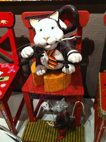 "Geoffry Sprague's ""Fat Cat"" Red Chair for Seminole Cultural Arts Council"
