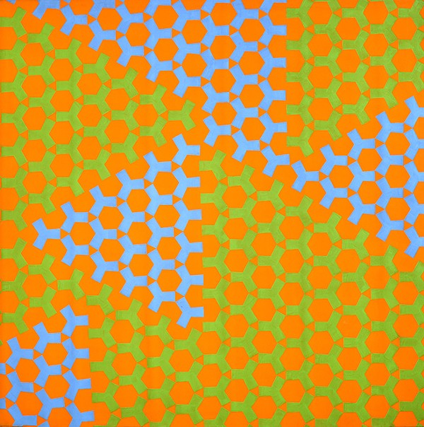 Green Blue Orange Y, 1965. Acrylic on canvas. The Alfond Collection of Contemporary Art, Cornell Fine Arts Museum, Rollins College. Courtesy of the artist and Broadway 1602. - ROSEMARIE CASTORO