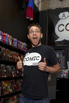 Guys like us: Jason Blanchard, co-owner of A Comic Shop, doesn't think comic book lovers need to be loners