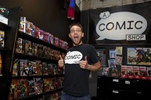 Guys like us: Jason Blanchard, co-owner of A Comic Shop, doesn't think comic book lovers need to be loners - PHOTO BY ALDRIN CAPULONG