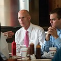 Happytown: Rick Scott visits Beefy King