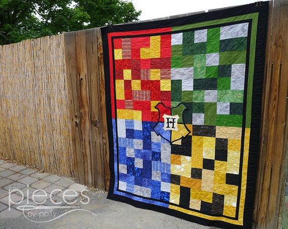 Harry potter fans you can buy this hogwarts quilt on etsy s