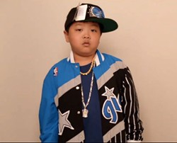 Hudson Yang in 1995 Orlando Magic gear