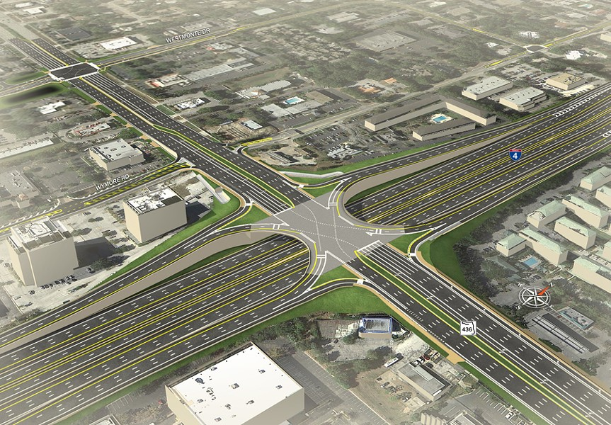 I-4/436 Interchange Rendering