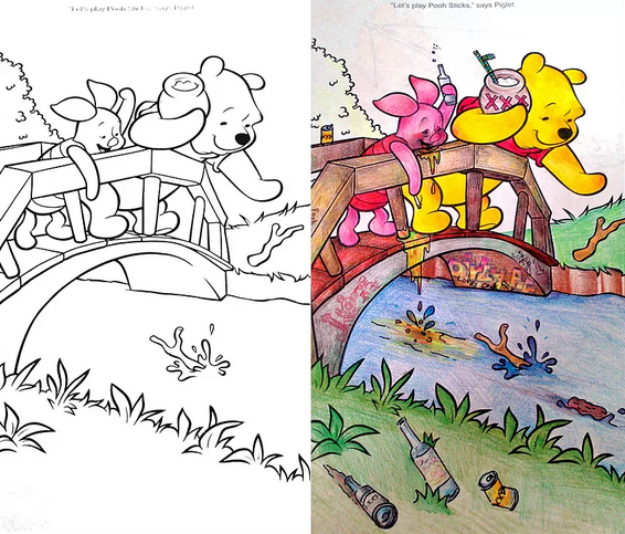 Coloring Book Corruptions: what happens when you let adults loose on ...