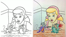 Coloring Book Corruptions: what happens when you let adults loose on a Disney coloring book