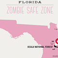 "Ocala National Forest is Florida's ""Zombie Safe Zone"""