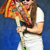 Pizza party hard with Andrew W.K. at Park Ave CDs