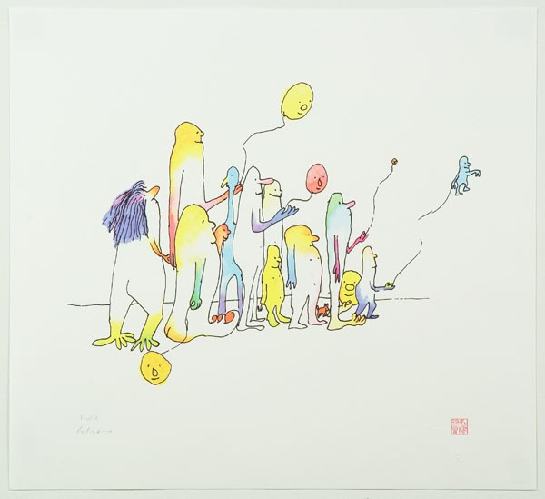 Instant Karma: Artwork by John Lennon, including 'Come Together' (above) and 'War is Over' (inset), will be on display for three days in Winter Park to benefit the Orlando Union Rescue Mission