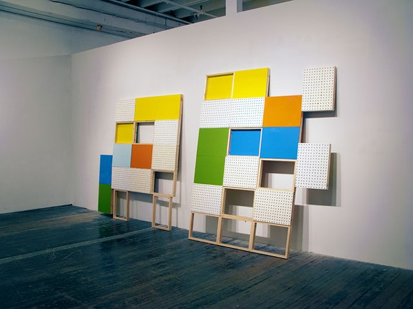 Interlockin' arts: This is one possible configuration of Judy Rushin's modular works, but not the one you'll see at OMA.