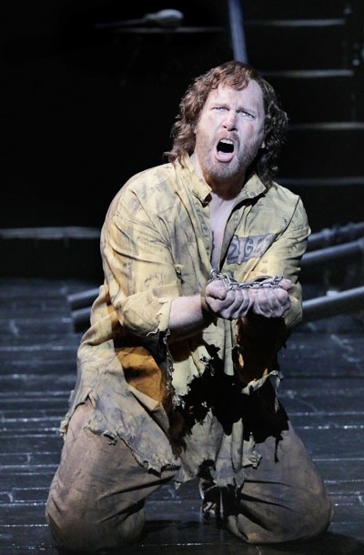 J. Mark McVey as Jean Valjean in Les Miserables
