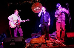 Jon Snodgrass, Austin Lucas and Jayke Orvis at Will's Pub (photo by Ashley Belanger)