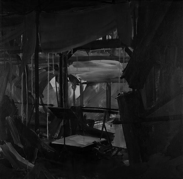 'Kristallnacht,' painting by Rick Jones (2013)