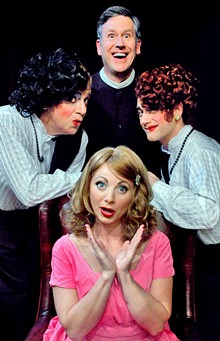 Ladies Men - (from left) Michael Colavolpe stars as Leo, Jamie-Lyn Hawkins as Meg and Rob Ross as Jack, in Leading Ladies