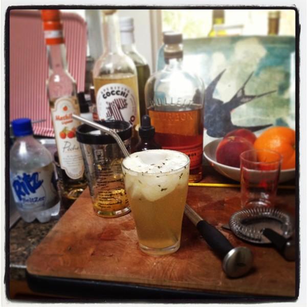 Lemme smash it: Our April Remix cocktail, transformed into a lighter, longer drink suitable for sipping.